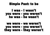 Lernplakat Simple Past von