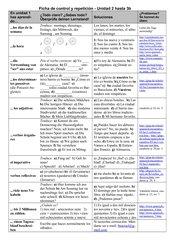 Ficha de control y repetición (Encuentros 1, nueva ed., unidad 2+3b)