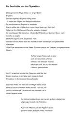 Thanksgiving Pilgerväter Projektbeschreibung