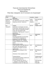Philip Glass: Conclusion (Sytyagraha) und Koyaanisqatsi