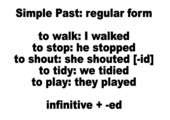 Lernplakat simple past regular