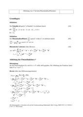 Ableitung von x^n