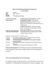 Unterrichtsentwurf Deutsch Kommasetzung bei Konjunktionen