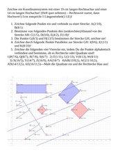 Geometrie in der Ebene, 3 Arbeitsblätter