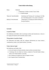 Unterrichtsplanung zu den Detektivmethoden des Materials Lesedetektive