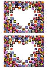Blumen-Herz - Schmuckblatt
