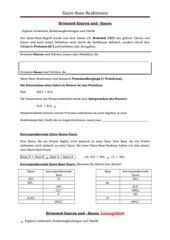 Unique Säure Base Neutralisationsreaktionen Zum Arbeitsblatt ...