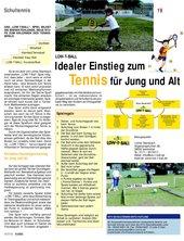 Low-T-Ball - Das kleine Tennis mit dem großen Ball
