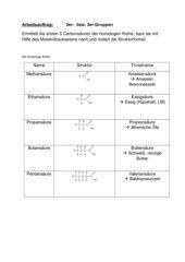 Strukturformeln der Carbonsäuren