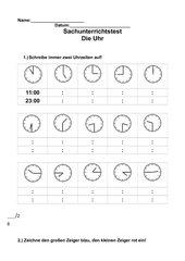 Test zu Uhrzeiten
