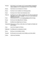 Grundbegriffe im Islam und Christentum