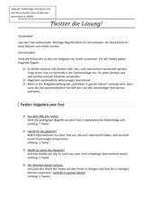 Twitter die Lösung - Textarbeit für alle Fächer