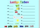 Lustige Farben - Eigenschaftswörter - Notebook-Datei für's Smartboard