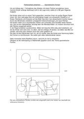 Partnerarbeit Geometrische Formen
