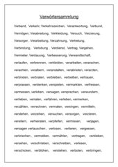 Ver- Wörter sammlung