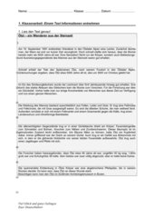 Klassenarbeit zum Thema: Einem Text Informationen entnehmen