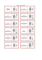 Domino Notennamen Violinschlüssel a - a''