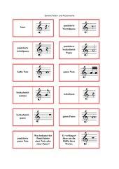 Domino Noten- und Pausenwerte