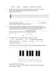 Spielpläne 1 Klasse 5 Arbeitsblatt C-Dur-Tonleiter