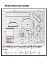 mathematik arbeitsmaterialien darstellen von bruchteilen. Black Bedroom Furniture Sets. Home Design Ideas
