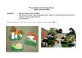 Fensterschmuck: Pilze und Schnecken
