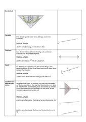 Merkblatt vor Klassenarbeit Thema: Zeichnen und konstruieren