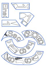Ziffern / Zahlen Puzzle, Zahlenbuch