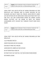 Übungsblatt zum Satzzeichen Punkt