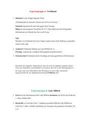 Kabale und Liebe - Figurencharakterisierung: Expertenpuzzle