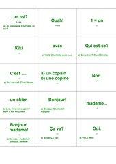 Lernkartei Tous Ensemble, Lektion 1 - Teil 2