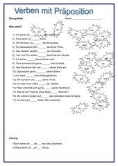 Verben mit Präpositionen
