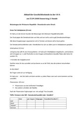 UR-Skizze: Parteien in der Weimarer Republik