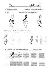 Violinschlüssel schreiben lernen