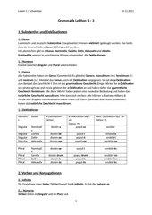 Grammatik Lektion 1-3