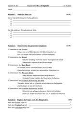 Klassenarbeit Satzglieder