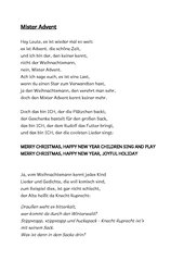 Advents- bzw. Weihnachtsfeier Grundschule: Mister Advent Rap