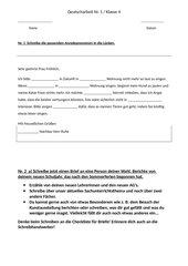 Deutscharbeit Brief schreiben