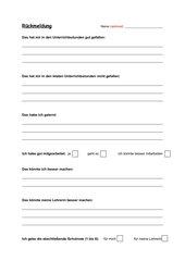 Evaluationsbogen für Schüler