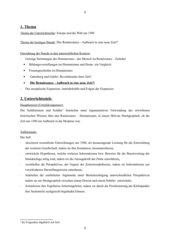 UR-Entwurf: Zeit der Renaissance -  Aufbruch in eine neue Zeit?!