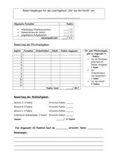 Bewertungsbogen Lesetagebuch