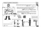 Illustrierte Wortschatzübung zu Campus 1, Ausgabe C, Kapitel 14