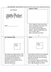 Lesemalbuch Harry Potter
