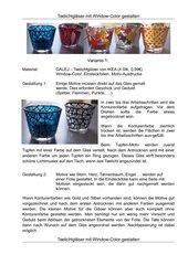 Teelichtgläser mit Window-Color gestalten