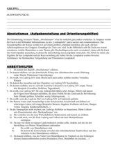 Absolutismus Selbststudium - Modifizierung