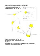 überstumpfe Winkel messen und zeichnen