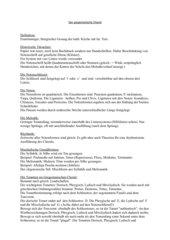 Gregorianischer Choral - Info-Handout