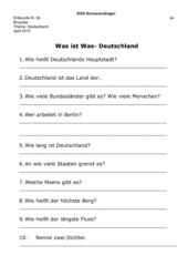 Was ist Was Deutschland Aufgaben zur DVD Film