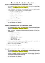 Präsentieren mit PPT_Aufgaben zur GA