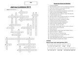 Kreuzworträtsel: Jahresrückblick 2011