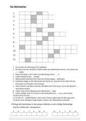 Rätsel zur Reformation_ Lösungswort Wormser Edikt